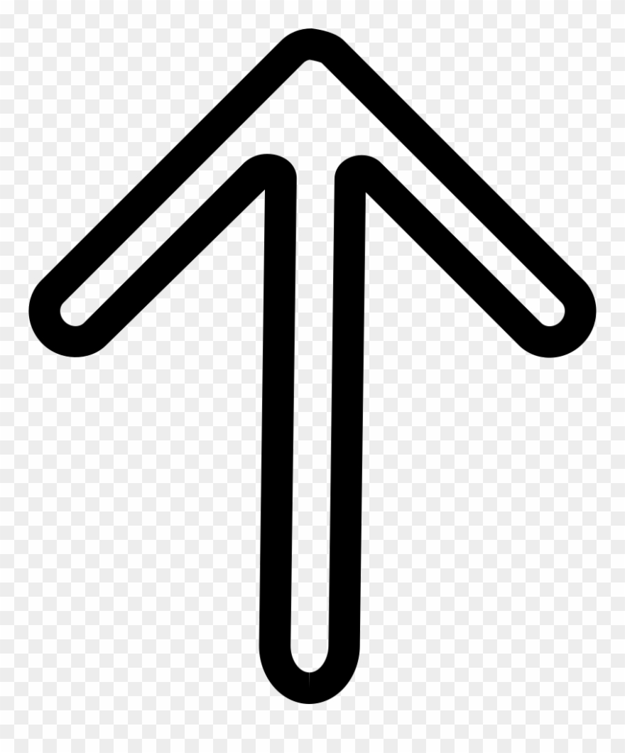 Up Arrow Outline Comments - Icon Clipart (#1966261 ...