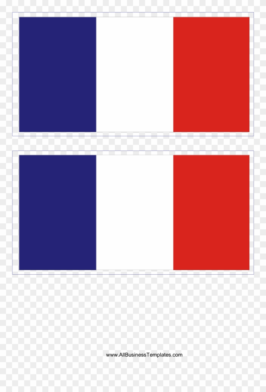 This Free Printable French Flag Template A4 Mini Transpa Clipart