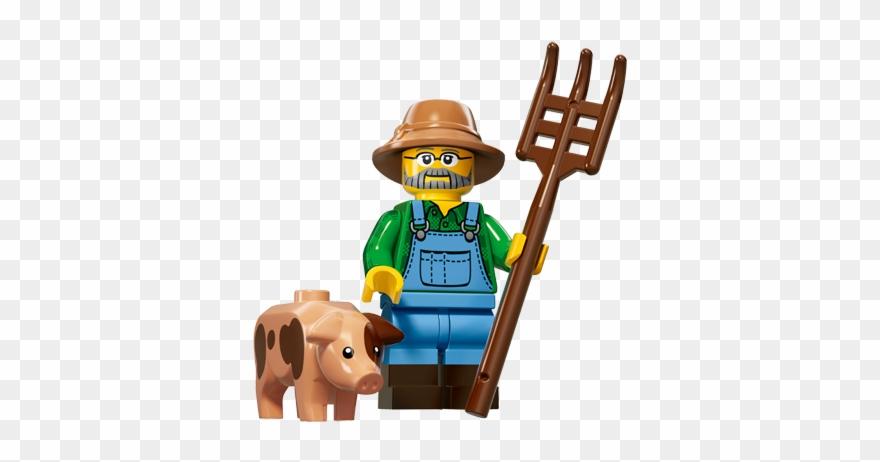Lego Farmer Man With Black Cap Minifigure