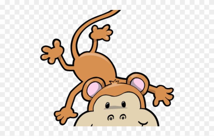 Monkey upside down. Cartoon hanging clipart pinclipart