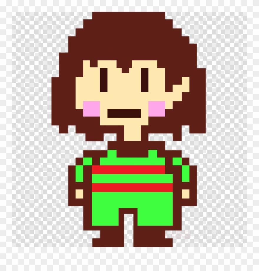 Undertale Frisk Pixel Art Grid