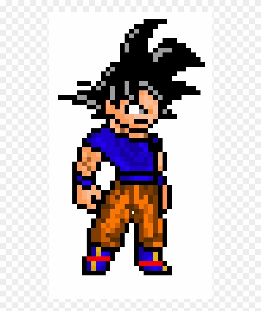 Incomplete Ultra Instinct Goku Pixel Art Goku Ultra