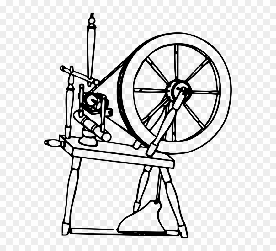 Spinning, Textile, Thread, Wheel, Yarn - Clip Art Spinning