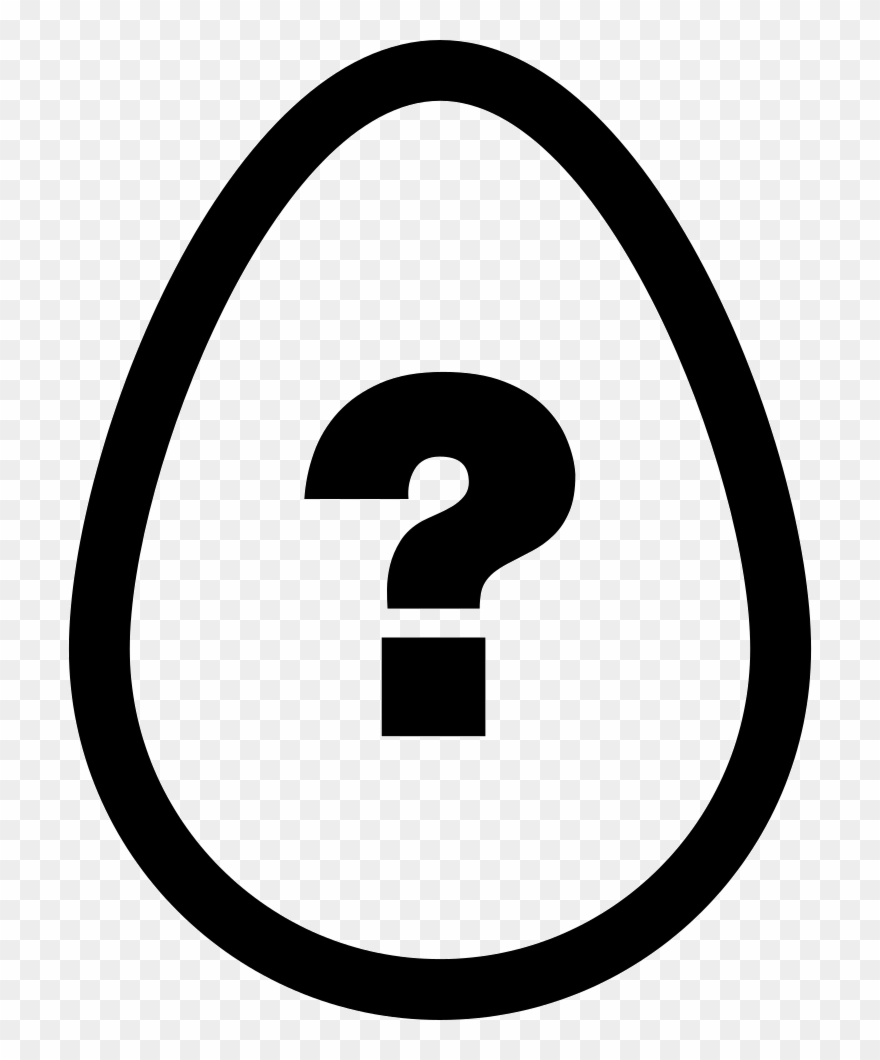 Egg Outline With Question Sign Inside Comments - 1 With A Circle Around Clipart
