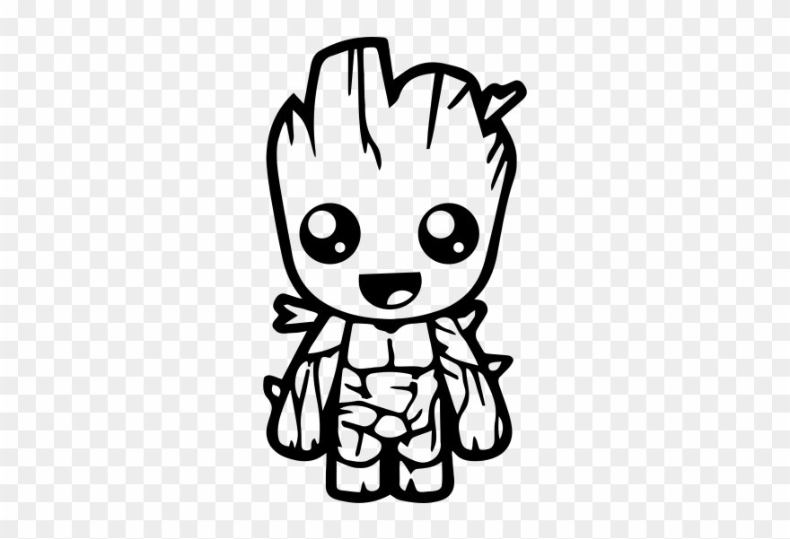 Pegatina Groot Guardianes De La Galaxia - Dibujos De Baby Groot Clipart