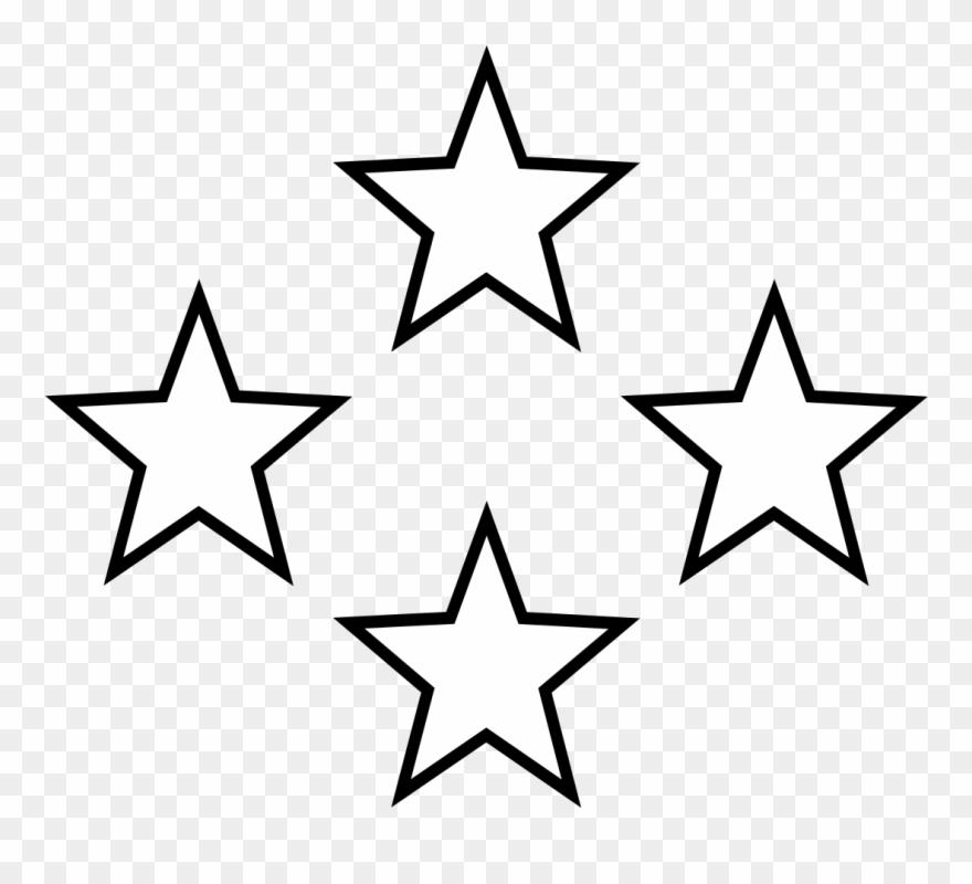Star Black And White White Stars Free Download Clip - Star