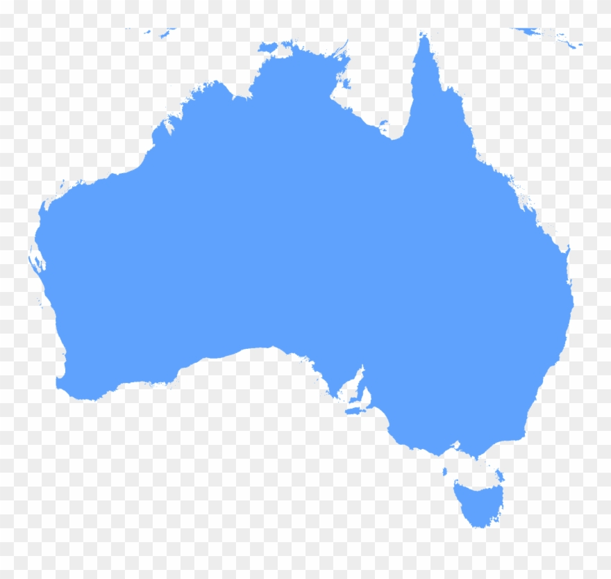 Australia Map Clipart.Continent Outline Clipart Australia Map With Tasmania Png