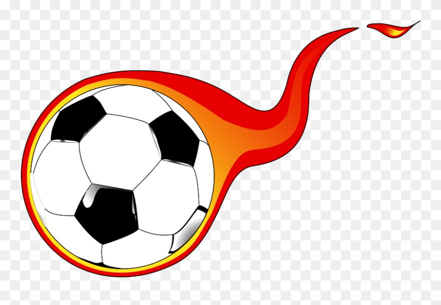 Fire soccer ball. Kids clip art png