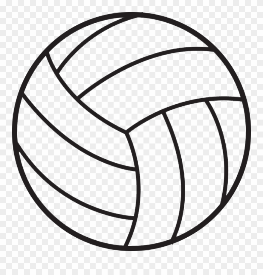 Volleyball transparent. Vector download clip art