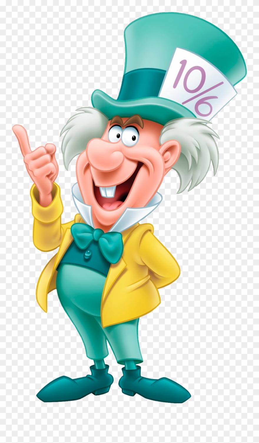Mad Hatter Disney - Alice In Wonderland Png Clipart ...