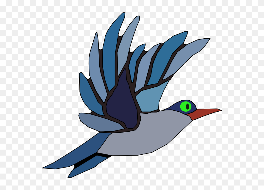Wings bird. Animated clipart blue twin