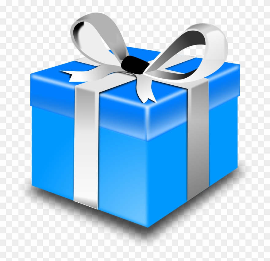 Christmas Presents Png.Presents Clip Art Blue Christmas Gift Box Png Download