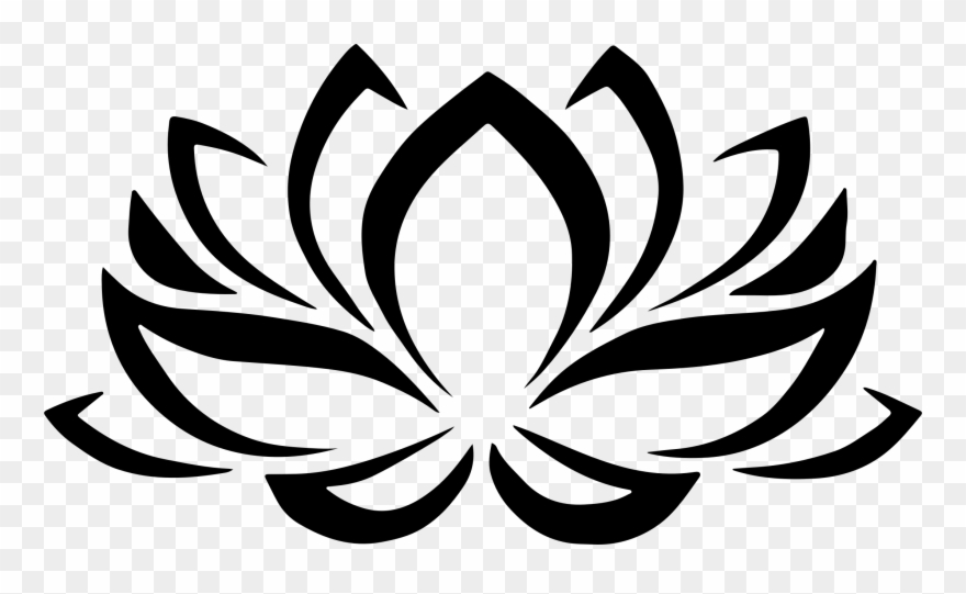 Meditation Clipart Lotus Flower - Lotus Symbol - Png ...