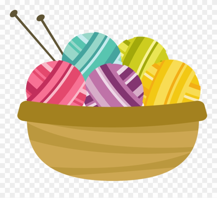 A Group For Those Who Like To Knit And Crochet To Communication Basket Of Yarn Png Clipart 22832 Pinclipart