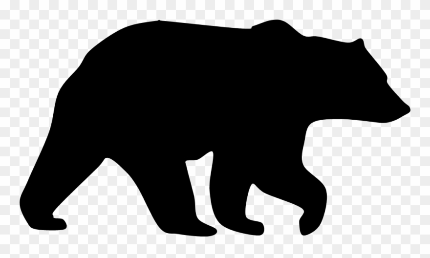 Bear silhouette. Mirror image so facing