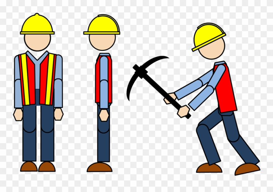 Free Construction Clipart - Construction Worker Clipart Free - Png Download