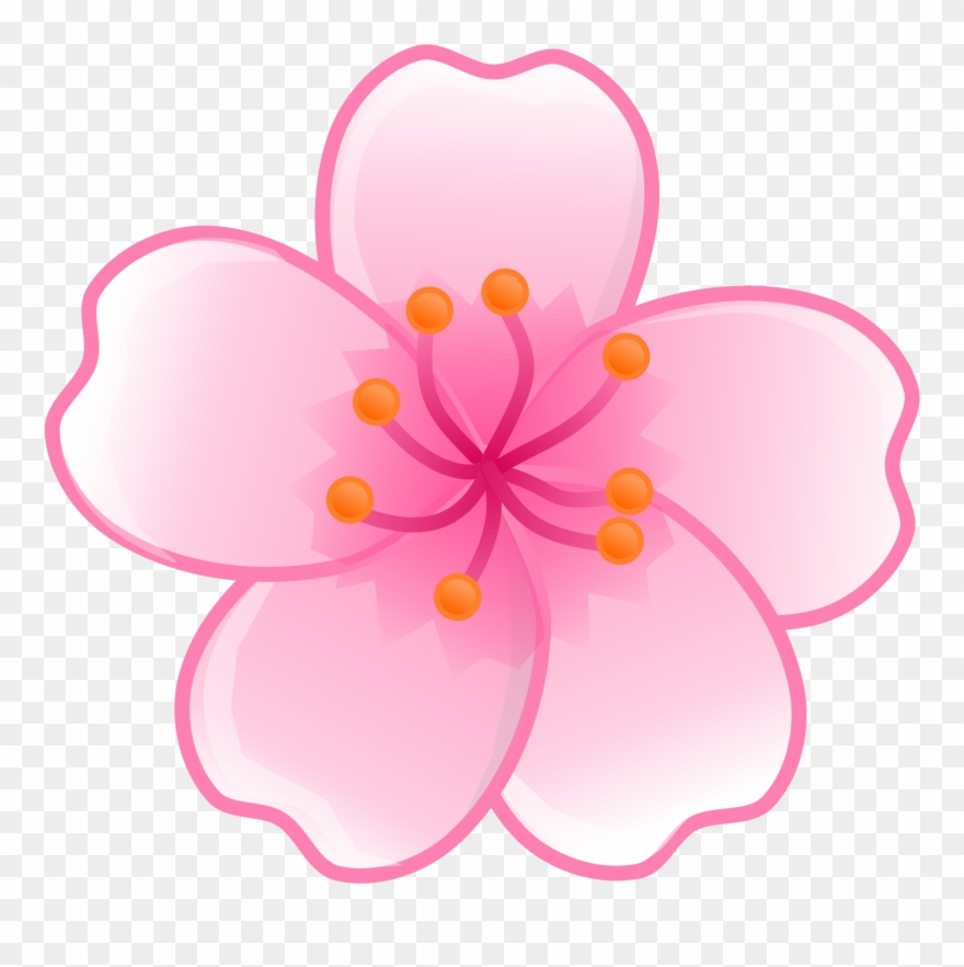57e65f3369351 Japan Clipart Japanese Flower - Cherry Blossom Flower Clipart - Png ...