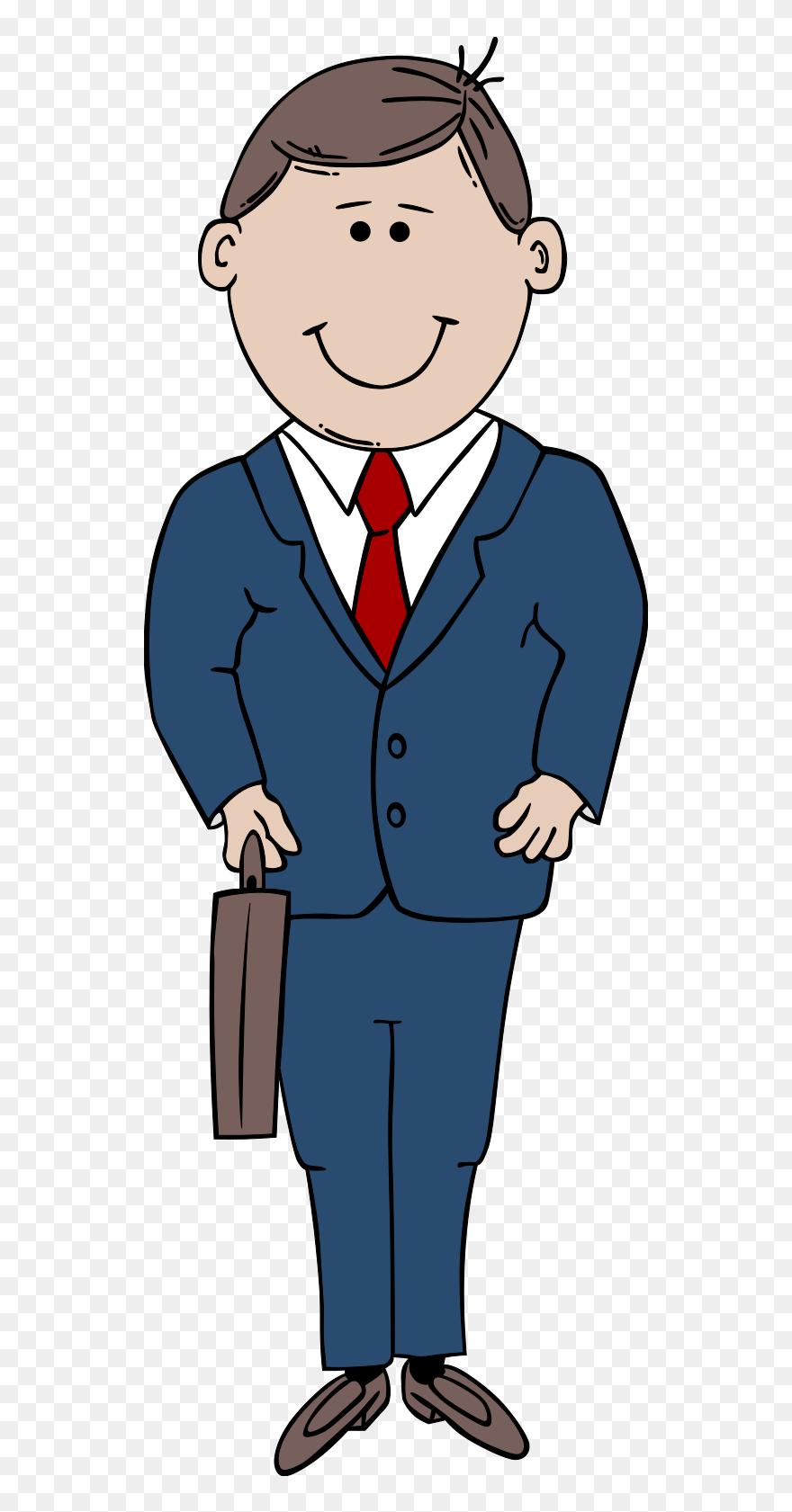 Art man. Clip clipart in suit