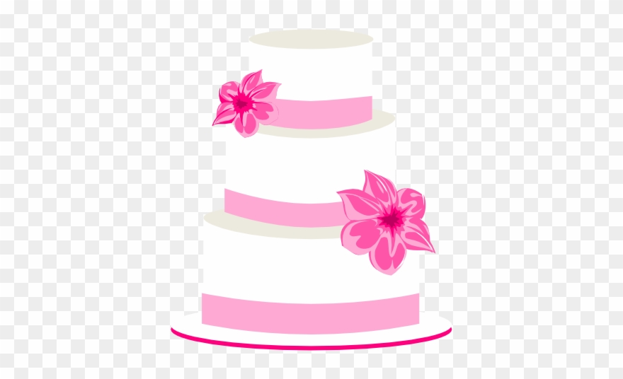 Pink Wedding Cake Clip Art
