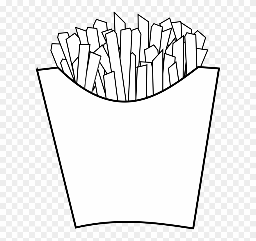 Mcdonald S French Fries Fast Food Drawing Line Art French