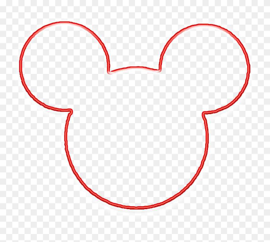 Mickey mouse head outline. Clipart bold and modern