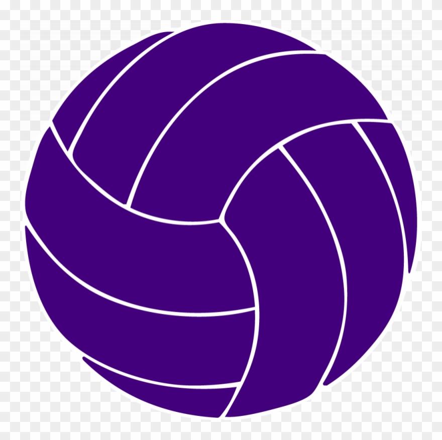 Volleyball purple. Clipart modern transparent