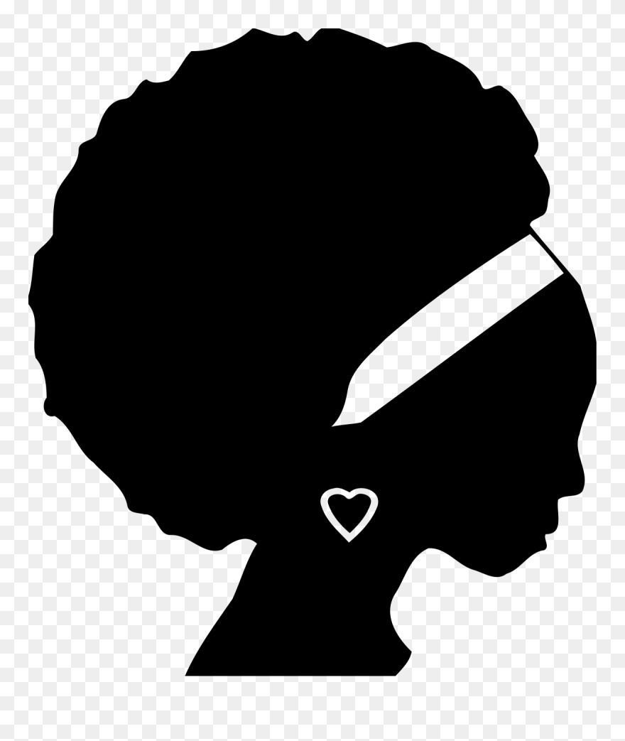African Americans Black Woman Silhouette Female African American