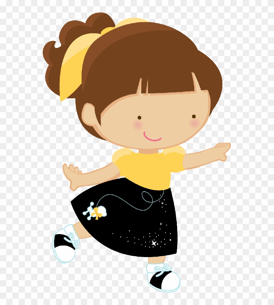 Girl dancing. Clipart cute clip art