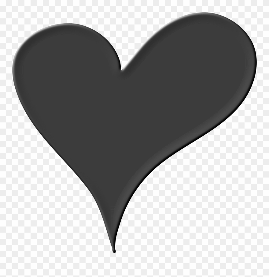 Bold And Modern Black Heart Clipart Heart Black White Png