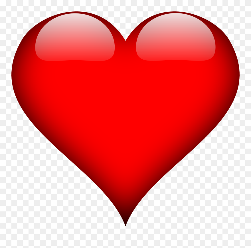 Heart Love Red Valentine Romantic Romance Glossy
