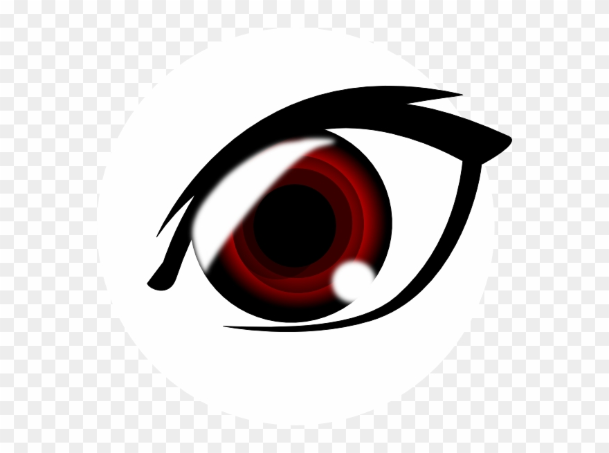 Red Eyes Clipart Transparent Red Anime Eye Png 29716 Pinclipart
