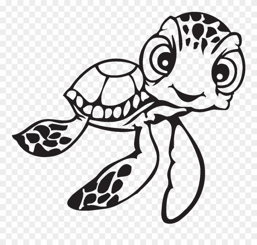 Nemo Clipart Face - Turtle Colouring In Pages - Png Download ...