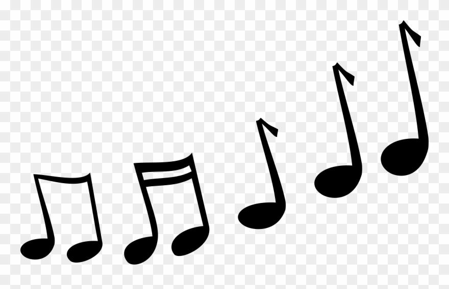 Music notes cartoon. Melody clipart vector clip