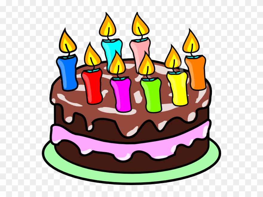 Clipart Set Zwei Bunte Geburtstagskuchen Mit Kerzen Buy This