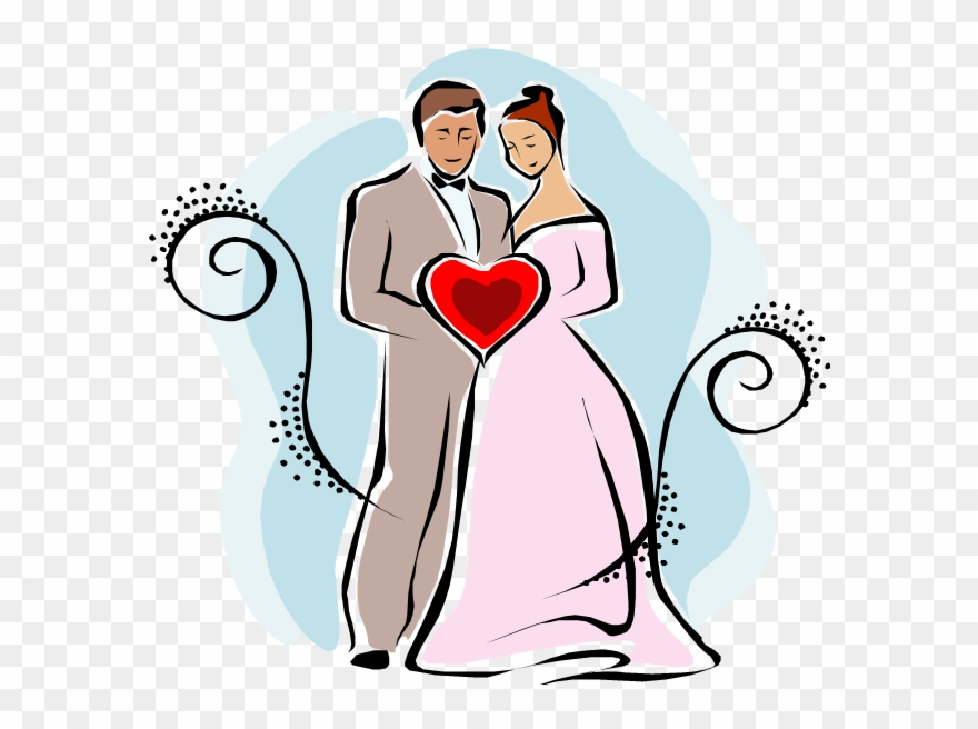 Рисунки жених и невесты прикольные
