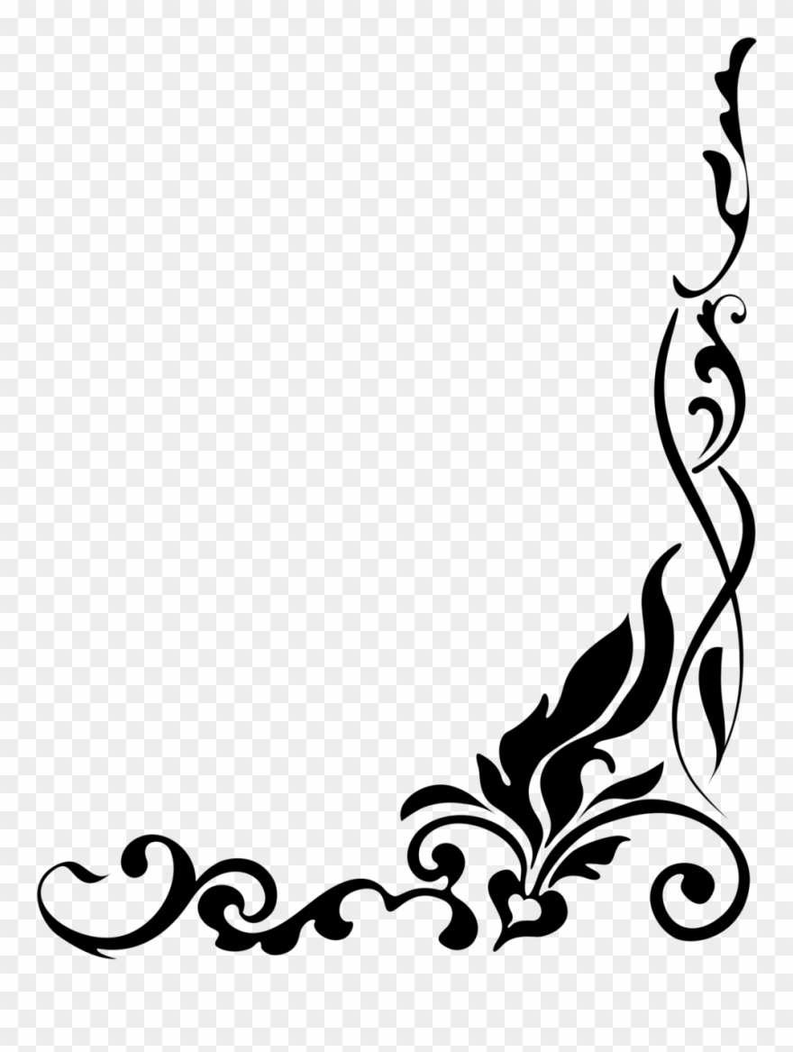 Download Black And White Flower Clipart - Black And White ...