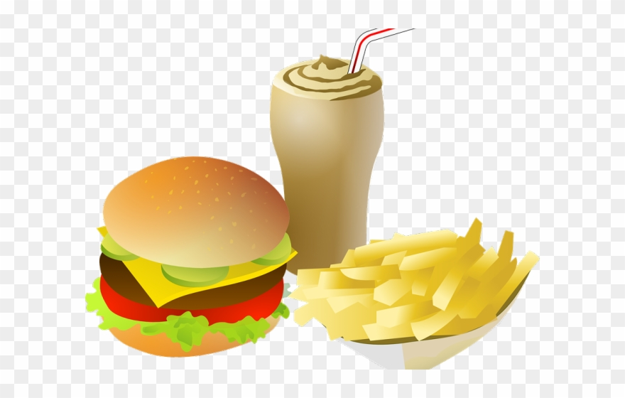 Healthy Food Clipart Burger - Fast Food Clipart Png