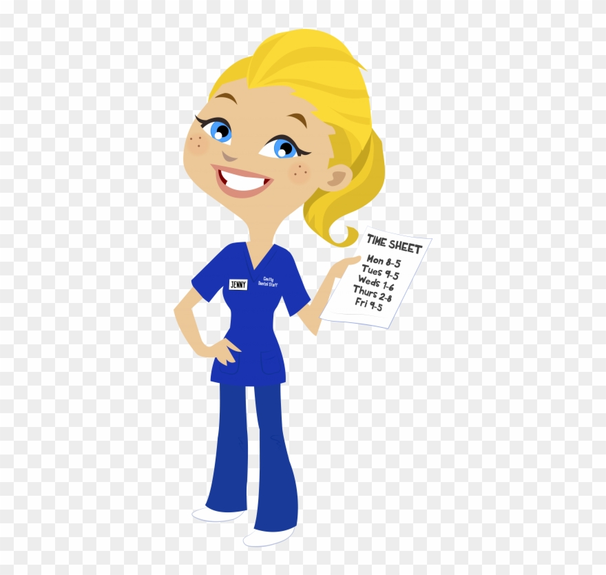 Nurse Clipart Blonde Hair Dental Nurse Clipart Png Download Full Size Clipart 208586 Pinclipart