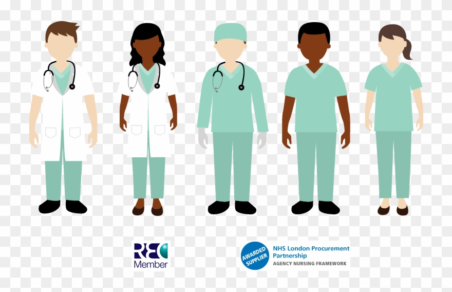 Nursing Clipart Healthcare Team Certificate Of Employment Png Download 208619 Pinclipart