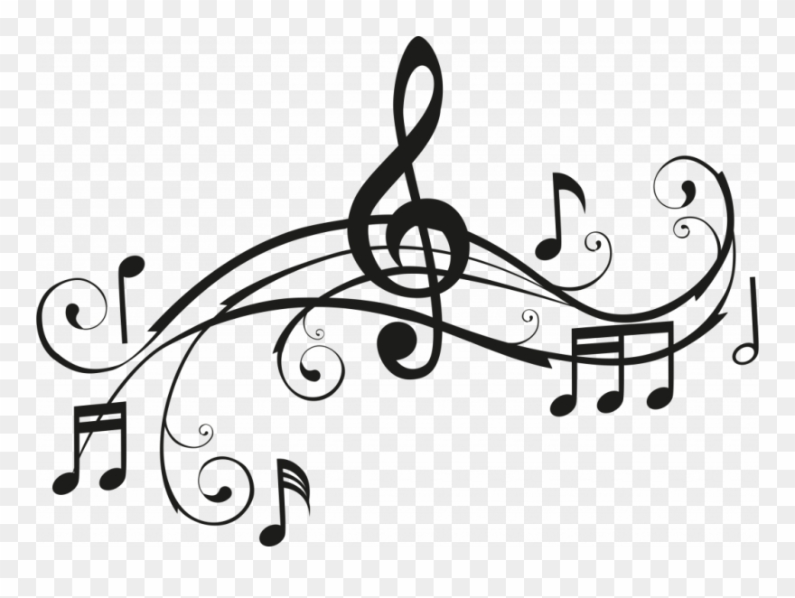 image about Printable Clip Art called Printable Musical Notes Deeptown - Songs Black And White