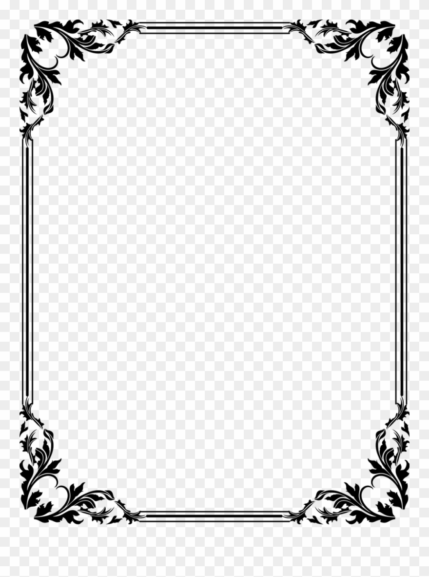 Cool School Project Cover Page Border Design Png