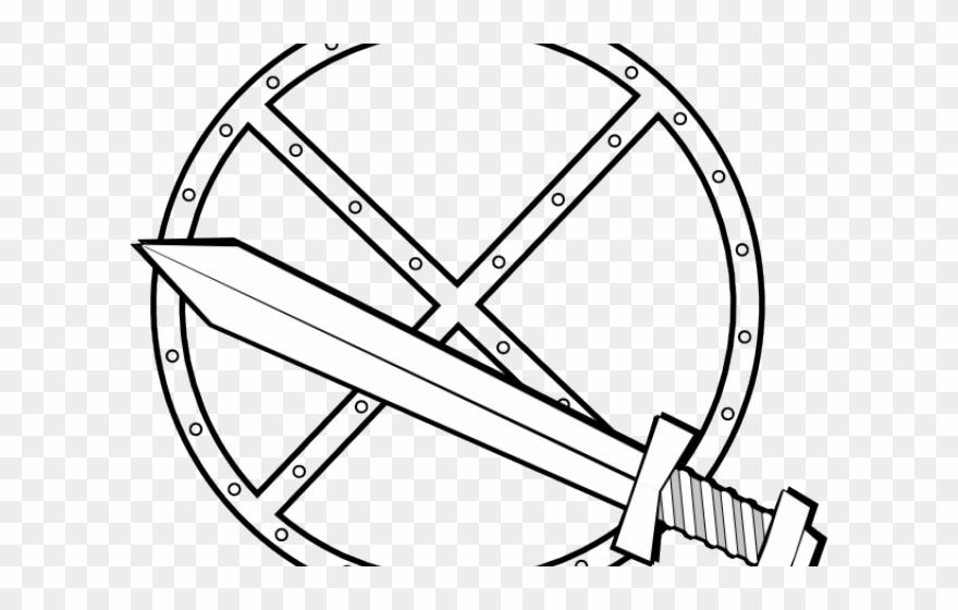 trojan sword clipart outline - 880×560