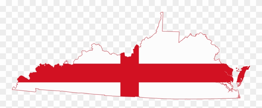 Flag Map Of The Colony Of Virginia The Colony Clipart 2026271