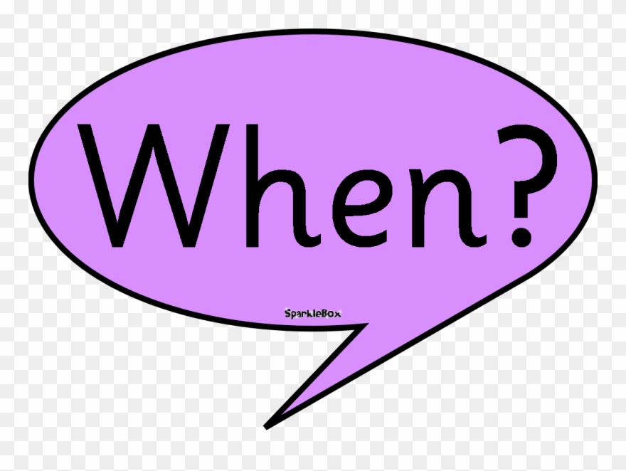Anytime, Anywhere - Question Words Clipart - Png Download