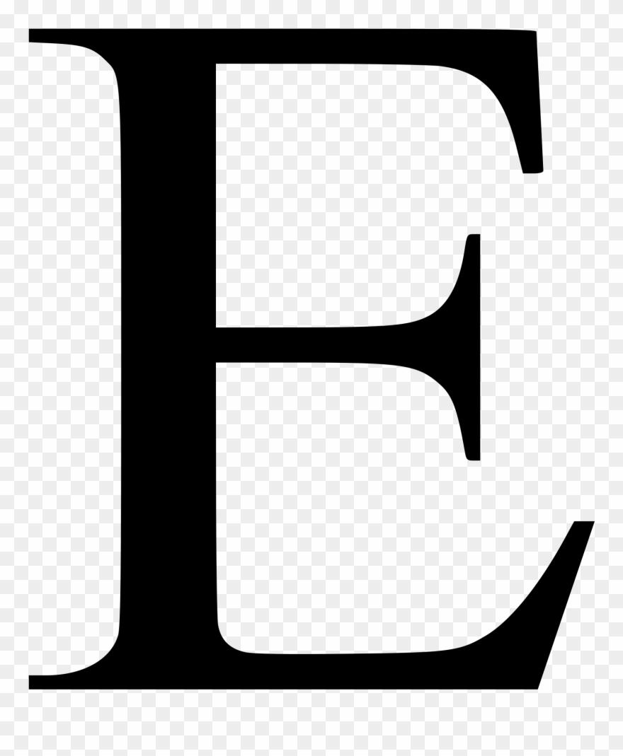 Times New Roman Font E Clipart (#2031206)