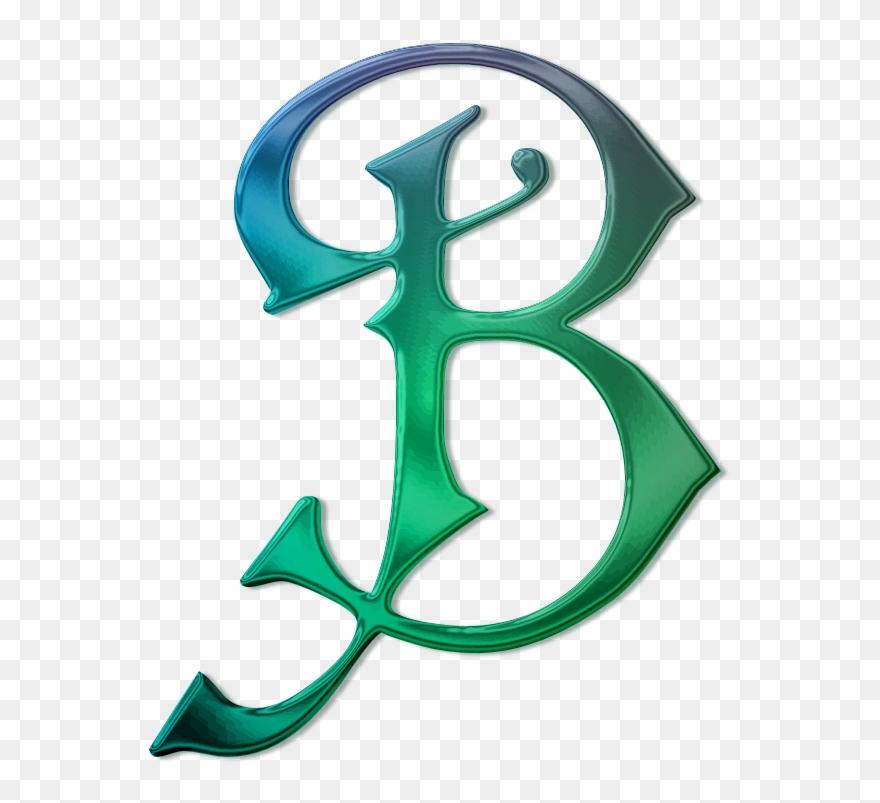 Lettre B Lettres Décorées Royal Monogram B Shower Curtain Clipart