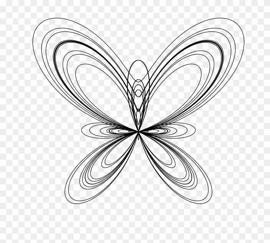 Line Art Drawings Of Butterflies