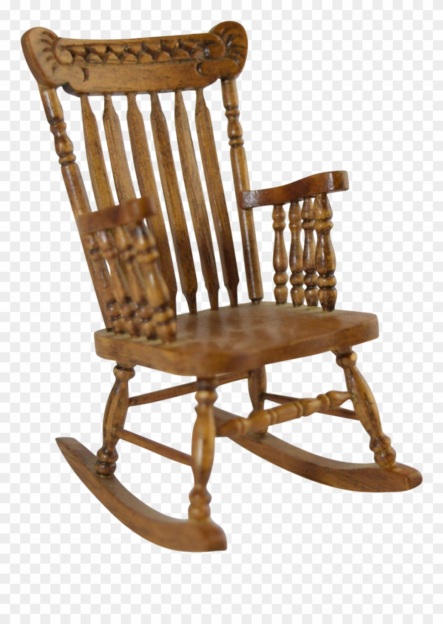 Picture of: Vintage Miniature Dollhouse Pressed Back Type Spindle Rocking Chair Transparent Background Clipart 2037178 Pinclipart