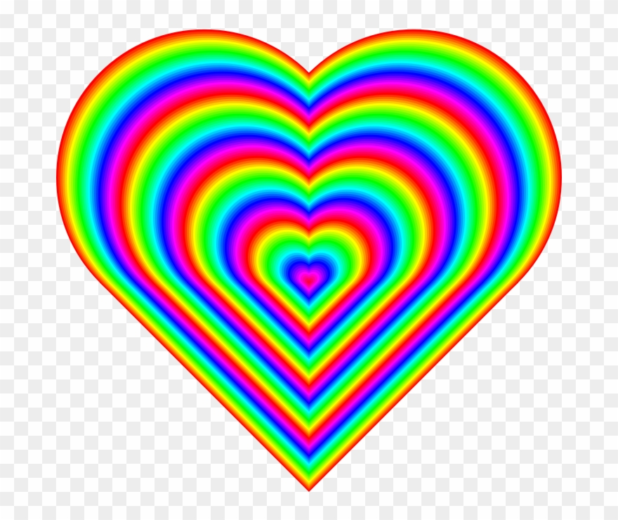 Heart rainbow. Picture clipart pinclipart