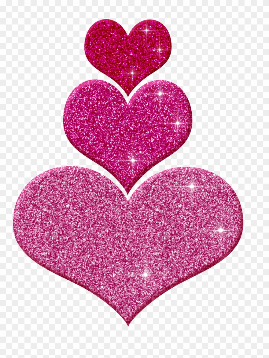 Hearts glitter. Pink clipart png download